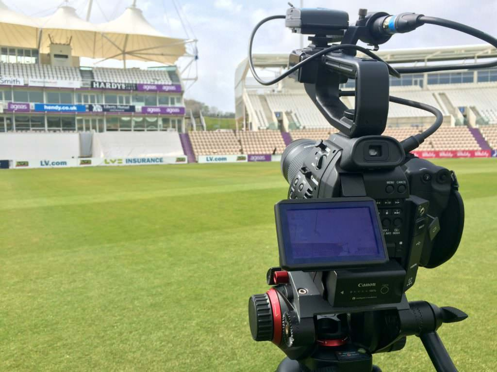Filming at The Ageas Bowl